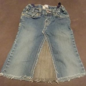 Girls Jean Skirt size 8 (Fits size 6 too)
